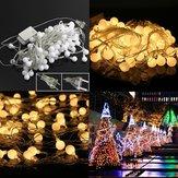 10 متر الدافئة الأبيض 100led الكرة الجنية سلسلة ضوء لحفل زفاف عيد الميلاد