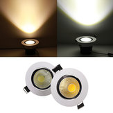 9W Non-dimmable COB LED Recessed Ceiling Light Fixture Down Light Kit