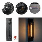NIEUW Industriële Lange Zwarte Muurplaat Retro Muurlamp Rustieke Muur Sconce Plaat