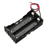 DIY DC 7.4V 2 Slot Double Series 18650 Battery Holder Battery Box With 2 Leads ROHS Certification