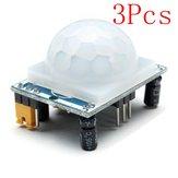 3Pz Moduli HC-SR501 Sensori di Umano a Infrarossi Include Lente