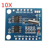 10Pcs I2C RTC DS1307 AT24C32 Real Time Clock Module For AVR ARM PIC SMD