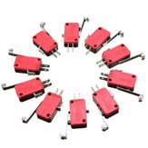 10pcs Roller Lever Arm Micro Switch AC 250V HV-156-1C25