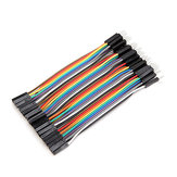 40pcs 10cm Male To Female Jumper Cable Dupont Wire For Arduino