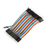 40pcs 10cm Male To Male Jumper Cable Dupont Wire