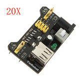20Pcs MB102 Breadboard Module Adapter Shield 3.3V / 5V Geekcreit for Arduino - produtos que funcionam com placas oficiais Arduino