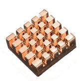 15 Pcs Pure Copper Heat Sink Cooling Fin Kit For Raspberry Pi