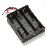 Black Plastic Battery Storage Case Box Holder For 3x18650 11.1V
