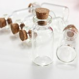 5Pcs Mini Clear Wishing Message Glass Bottles Vials Jars With Cork