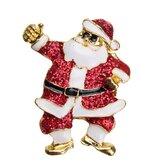Stili diversi Babbo Natale Calze Perni di spilla di Natale in lega per Natale