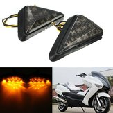 Motorcycle Universal Triangle Flush Mount Turn Signal Amber LED Left&Right Light