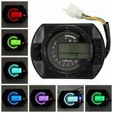 Moto tachymètre d'indicateur de vitesse de compteur kilométrique digital kmh lcd avec fond de 7 couleurs