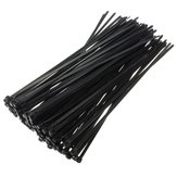 100pcs 8inch câble métallique attaches de nylon envelopper 40 LBS sangle de traction