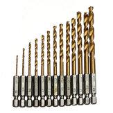 1.5-6.5mm de titanio de acero rápido con recubrimiento vástago hexagonal juego de brocas