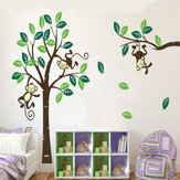 Monkey On Tree Art Wymienny naklejka ścienna Baby Room Home Decal Decor