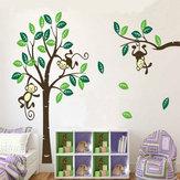 Обезьяна на дерево-арт съемные стены стикеры детская комната домашний декор наклейка