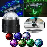 3W Colorful Sound Activated LED Magic Ball Stage Light for Disco Car 12V-24V