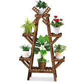 Wooden Succulent Flower Pot Shelf Rack Multi-Layer Solid Wood Floor Indoor Living