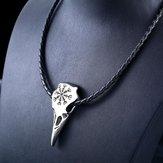 Collar unisex Viking Amulet de acero inoxidable Colgante