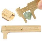 80mm البسيطة النحاس انزلاق مقياس رنيه حبة سلك مجوهرات قياس الجيب الفرجار