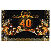 7x5FT 40/50/60/70 Birthday Party Decoration Anniversary Studio Photography Backdrops Background