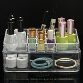 2 Layers Acrylic Clear Makeup Cosmetic Stand Display Organizer Container Storage Case