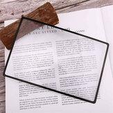 3 peças de ampliação de marca de livro com lupa 180X120mm 3X folha de lupa de PVC plana de lupa para artigos de papelaria e fontes de marcador