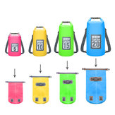 SGOODE 20L PVC Double Shoulder Outdoor Waterproof Bags Ultraligh Hiking Camping Swimming Pouch Bag Backpack Pool Accessories