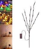 70 سنتيمتر البطارية القوة 20LED فرع شجرة فرع الجنية سلسلة ضوء الميلاد حزب ديكور المنزل