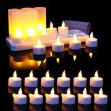 12 STKS Vlamloze LED Kaarslicht Oplaadbare Flikkerende Theelamp voor Verjaardagsfeestje US Plug AC110V