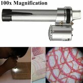 100X Handheld Pocket LED Pen Style Microscope Loupe Gem Jewelry Magnifier Zoom Pen