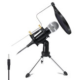X-01 3.5 mm Jack Mini Recording Condenser Microphone for Computer PC Karaoke Phone