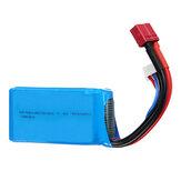Wltoys 7.4V 1500mAh 25C 2S Lipo-batterij T Plug voor 144001 A959-B A969-B A979-B 1/18 RC auto