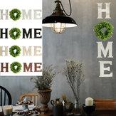 Letrero de madera para colgar en la pared con letras para el hogar con decoración de eucalipto artificial para la casa de la sala de estar