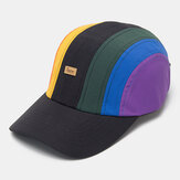 Unisex Casual Sports Creative Stitching Rainbow Baseball Cap