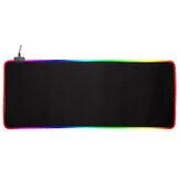 Tapete de rato RGB Soft borracha antiderrapante LED Teclado de jogo iluminado Tapete protetor de mesa para escritório doméstico
