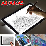A3 A4 A5 LED Light Box Tracing Dessin Planche Art Design Pad Slim Lightbox USB Projector