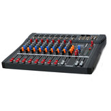 CT80S 8 Channel Professional Live Studio Audio Mixer with 48V Phantom USB Effect