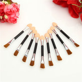 10st Double End Eye Shadow Brush Svamp Eyeliner Makeup Borstar Cosmetic Tool