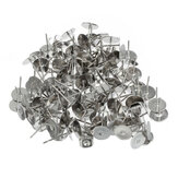 100 Pcs Flat Pad Ear Nuts Clutches Earring Posts Studs+ Scroll Backs Findings