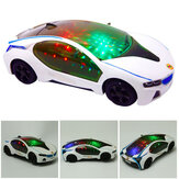 Newly Super Car Flashing LED Light Music Sound Electric Toys Cars Educational Kids Gift