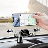 Baseus Horizontal Direct-view Gravity Linkage Automatic Lock Dashboard Car Mount Car Phone Holder Para 4,7