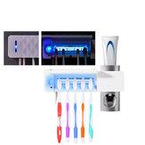 3 in 1 UV歯ブラシホルダー滅菌器自動歯磨き粉ディスペンサー