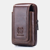 Bullcaptain Vintage Genuine Leather Waist Bag Phone Bag