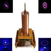 Music Tesla Coil Acrylic Shell Arc Plasma Speaker Wireless Transmission Experimental Desktop Toy Model Gold