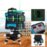 360° Rotary 3D Green Laser Level 12 Lines Self Leveling Cross Measure Tool Kit
