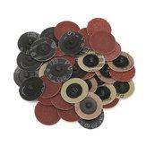 40шт 40/80/120/240 Grits 2 дюймов Roll Замок R Тип Шлифовальный абразивный диск