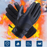 Unisex USB Charging Heating Touchscreen Outdoor Winter Electric Car Riding Keep Warm Waterptoof Windproof Leather Gloves