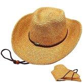 Unisex Panama Katlanır Straw Kovboy Şapka Classic Batı Plaj Güneş Geniş Ağız Kova Kapakları