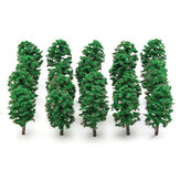 20pcs Mini Fir Trees Model Train Railway Forest Street Scenery Layout Decorations